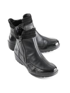 Waldläufer-Boots Extraweit Schwarz Detail 1