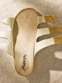 Memory-Pantolette Fußperfekt Silber Detail 3