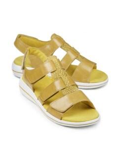 Green Comfort-Sandale Extraweich Maisgelb Detail 1