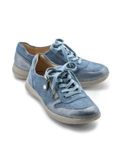 Hallux-Sneaker Superbequem Jeansblau Detail 1