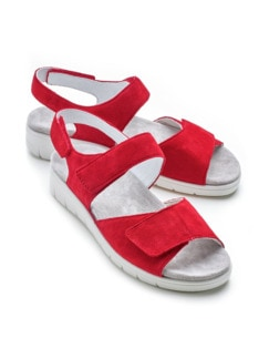 Hallux-Sandale Fußfreiheit Rot Detail 1