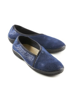Hallux-Soft-Slipper Fußglück Blau animal Detail 1