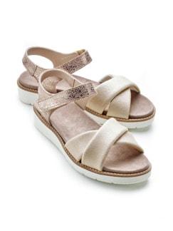Hallux-Sandale Softness Beige/Roségold Detail 1