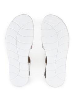 Hallux-Sandale Softness Weiß geblümt Detail 4