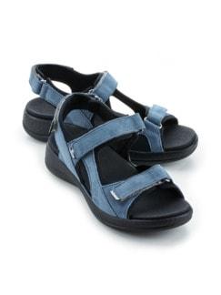 Hallux-Trekking-Sandale Jeansblau Detail 1