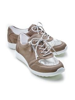 Hallux-Sneaker Schmeichelweite Beige Detail 1