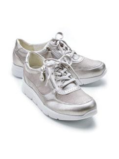 Waldläufer-Sneaker Double-Zip Taupe Detail 1