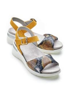 Hallux-Sandale Hüftschwung Gelb Detail 1