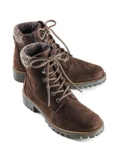 Hallux-Strick-Boots Braun Detail 1