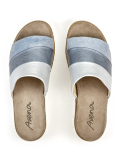 Pantolette Softpolster Hellblau Detail 4
