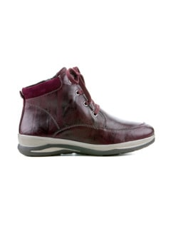 Hallux-Lammfell-Boots Sporty Bordeaux Detail 2