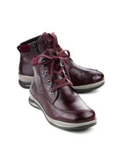 Hallux-Lammfell-Boots Sporty Bordeaux Detail 1