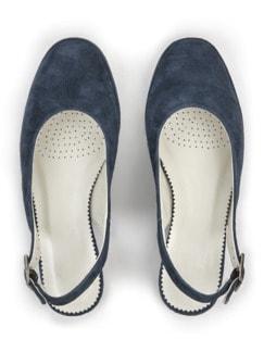 Softgel-Slingpumps Blau Detail 4