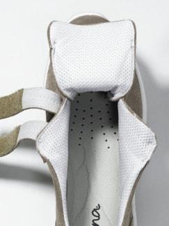 Hallux-Klettslipper Fußglück Taupe Detail 3