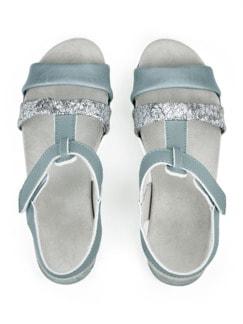 Hallux-Sandale Softpolster Hellblau Detail 4