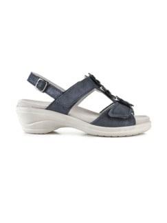 Hallux-Sandale Modernchic Blau metallic Detail 2