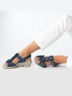 Hallux-Sandale Modernchic Blau metallic Detail 3