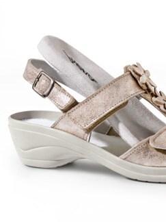 Hallux-Sandale Modernchic Beige metallic Detail 3