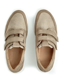 Ganter-Prophylaxe-Klettslipper Beige Detail 4
