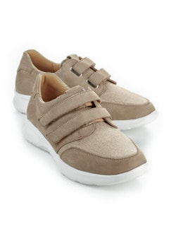 Ganter-Prophylaxe-Klettslipper Beige Detail 1
