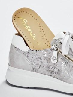 Hallux-Sneaker Fußglück Grau/Silber gem Detail 3