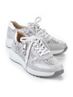 Hallux-Sneaker Fußglück Grau/Silber gem Detail 1