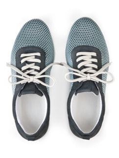 Hallux-Sneaker Strick-Dessin Blau Detail 3