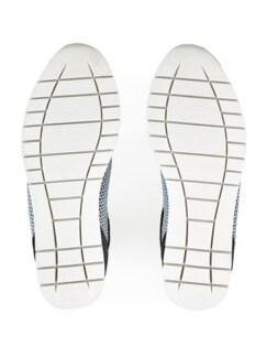 Hallux-Sneaker Strick-Dessin Blau Detail 4
