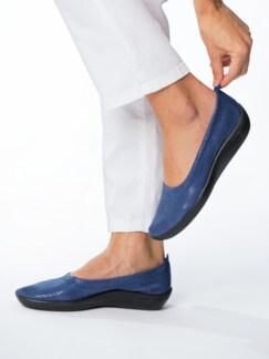 Hallux-Soft-Slipper Extraweit Jeansblau Detail 3