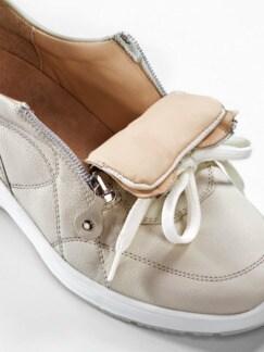 Sensitiv-Reißverschluss-Sneaker Beige Detail 3