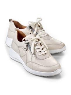 Sensitiv-Reißverschluss-Sneaker Beige Detail 1