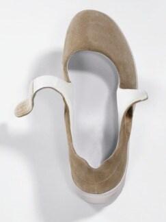 Hallux-Klett-Ballerina Extraweit Beige Detail 3