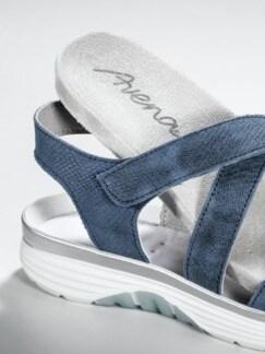 Bequem-Sandale Soft-Rollsohle Jeansblau Detail 4