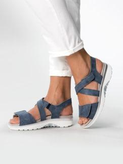 Bequem-Sandale Soft-Rollsohle Jeansblau Detail 3