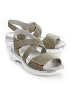 Bequem-Sandale Soft-Rollsohle Khaki Detail 1