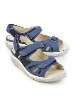 Waldläufer-Rollsohlen-Sandale Jeansblau Detail 1