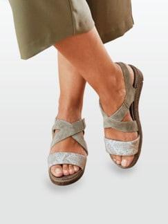 Hallux-Sandale Trittsicher Schilf Detail 3