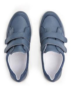 Klett-Sneaker Komfort Jeansblau Detail 4