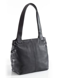 Leder-Shopper Easy Going Schwarz Detail 1
