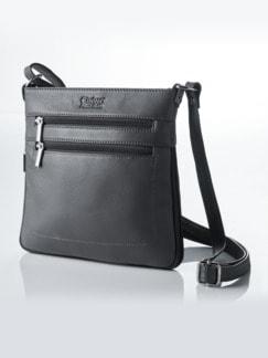 Leder-Handtasche Vario Dunkelgrau Detail 1