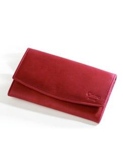 Damen-Geldbörse Rot Detail 1