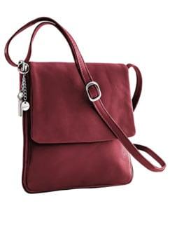 Leder-Handtasche Every Day Bordeaux Detail 1