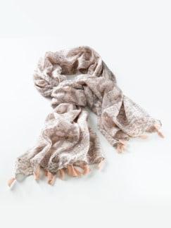 Baumwolltuch Shiny Puder/Rosegold Detail 1