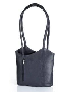 Leder-Rucksack-Tasche Blau Detail 1