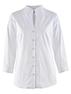 Komfort-Bluse Ultrastretch Weiß Detail 3
