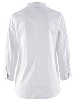 Komfort-Bluse Ultrastretch Weiß Detail 4