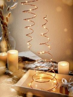 LED-Spiralleuchte Kupferfarben Detail 2