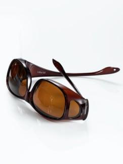 Überzieh-Sonnenbrille Unisex Braun Detail 1
