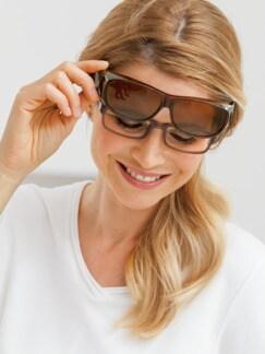 Überzieh-Sonnenbrillen Unisex Braun Detail 2