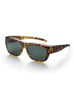 Überzieh-Sonnenbrille Leo Braun Detail 1